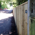 Close Board Fencing with Concrete Posts