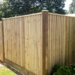 Wooden Close Board Fencing & Gate
