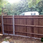 Close Board Fencing with Concrete Posts and Gate